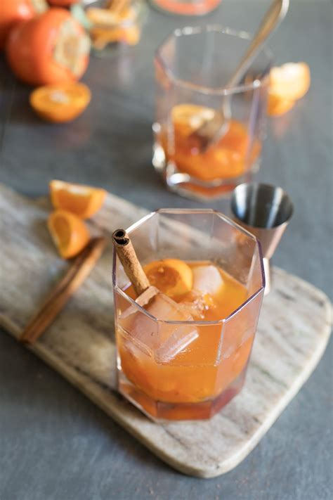persimmon spice punch my diary of us spiced persimmon old fashioned cocktail