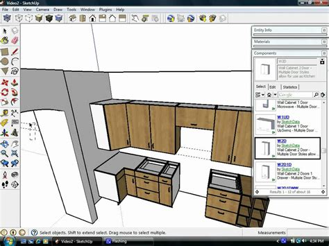 sketchup kitchen design using dynamic component cabinets sketchup cabinets dynamic components mf cabinets