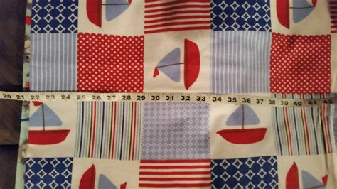Nautical Patchwork Fabric - nautical flannel fabric with boats sailboats patchwork cotton