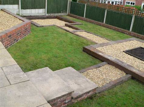 Used British Railway Sleepers Patio Garden Ideas With Sleepers