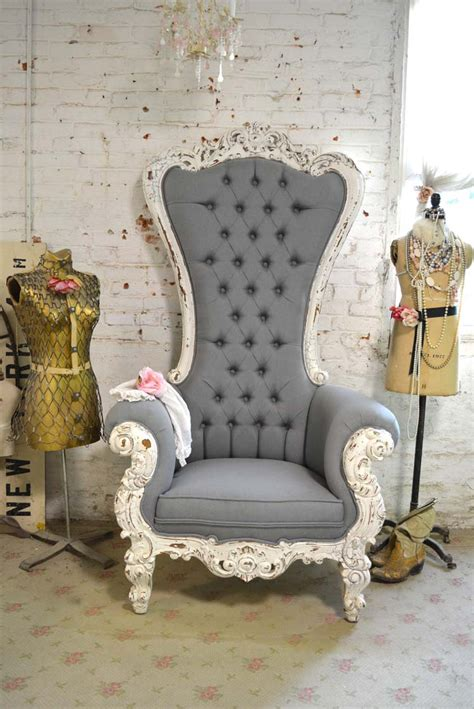 shabby chic upholstered chairs painted cottage chic shabby upholstered tufted