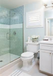Small Cottage Bathroom Ideas Blue Cottage Bathroom With Blue Subway Shower Tiles
