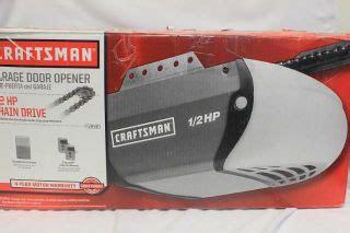 craftsman garage door opener 1 2 hp chain drive model