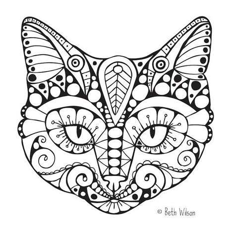 cat coloring pages for adults only coloring pages