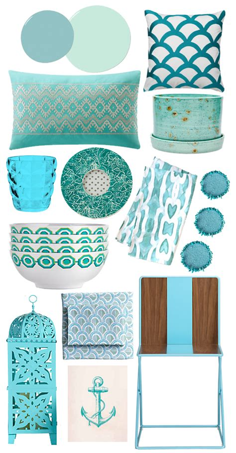 aqua home decor popsugar home