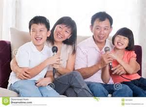 karaoke at home asian family singing karaoke stock photo image 29410950