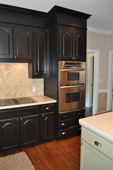Kitchen Black Cabinets The Collected Interior Black Painted Kitchen Cabinets Lacquer Actually