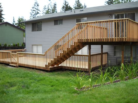 two story deck two tier deck designs lighting furniture design