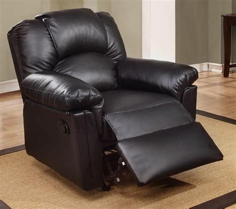 Bonded Leather Recliners by Rockers Recliners Black Bonded Leather Rocker Recliner F