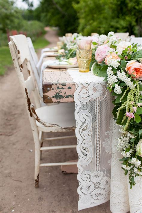 vintage shabby chic wedding inspiration   detail