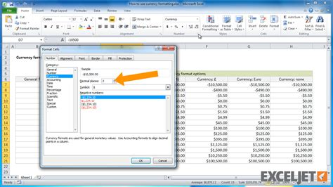 formula in excel format currency excel tutorial how to use currency formatting in excel