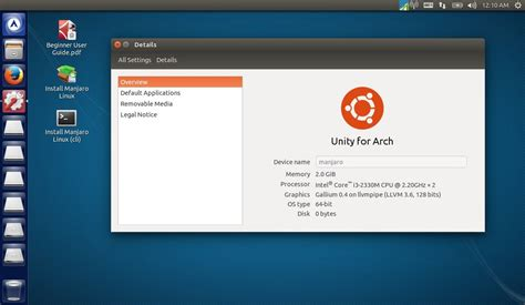 Manjaro 16061 Live Dvd Linux Os manjaro linux unity 0 8 12 is now available for