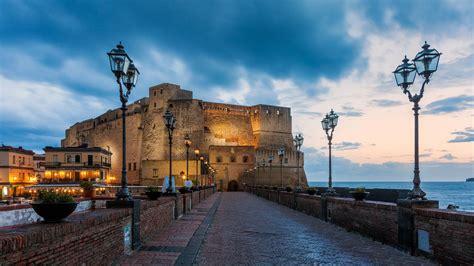 italia napoli castel dell ovo naples italy hd wallpaper