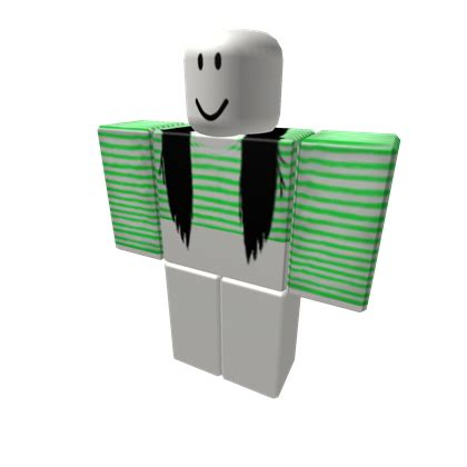Crop W by Neon Green Striped Crop W Black Extensions Roblox