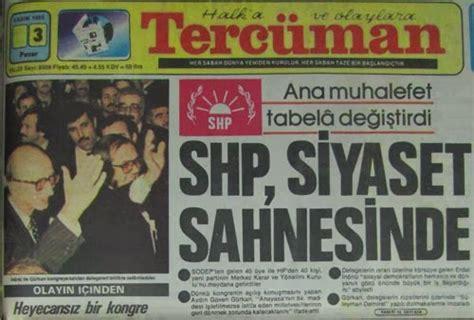 Shp Fauna 1987 71 siyaset 1977 1979 1983 1987 1989 1991 1995 se 231 imleri ve 12 eyl 252 l 80 darbesi