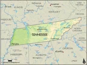 map of and tennessee tennessee map free large images