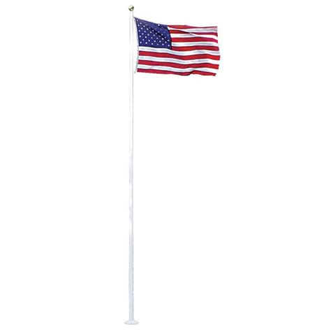 seasonal designs 20 ft aluminum flagpole with 3 ft x 5