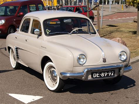 old renault renault dauphine black and white old but bright