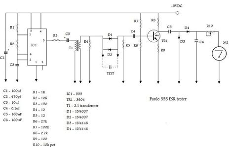 esr capacitor meter schematic building an esr meter