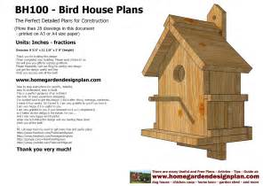 sntila home garden plans bh100 bird house plans