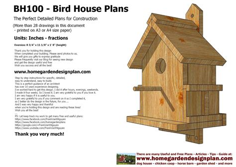 bird house building plans home garden plans home garden plans bh100 bird house plans construction bird