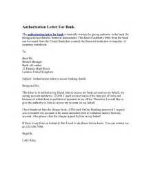 Authorization Letter Sample For Withdrawing Money Inthe Bank Authorization Letter For Bank