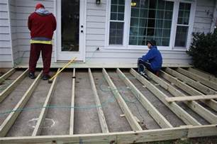 how to build a deck on concrete patio deck and cover view along the way