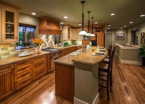 country kitchen islands this green country kitchen features a large kitchen island
