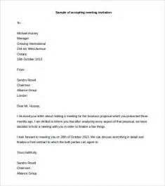 Acceptance Letter For Meeting Sle Letter Accepting Meeting Invitation Infoinvitation Co