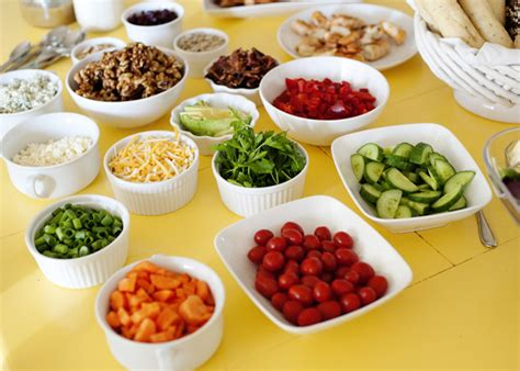 toppings for salad bar dole diy salad bar party baked bree