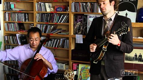 Macklemore Tiny Desk by Yo Yo Ma Edgar Meyer Chris Thile And Stuart Duncan Npr Tiny Desk Concert
