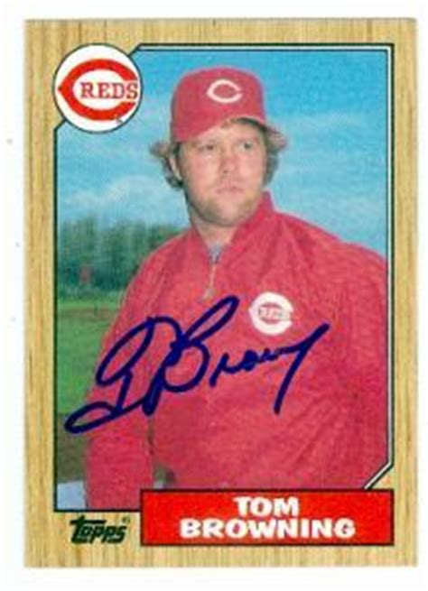 tom browning cards tom browning autographed baseball card cincinnati reds