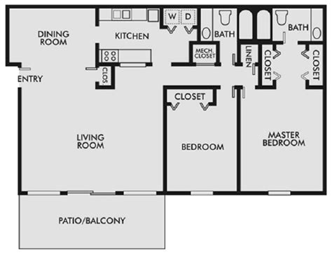 lakeshore floor plan 1 2 3 bedroom apartments for rent in chattanooga tn