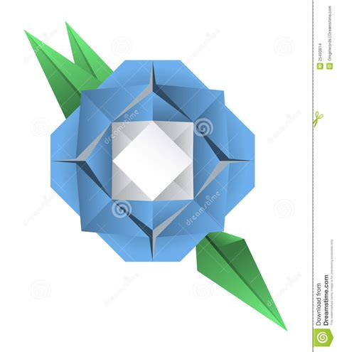 Plant Origami - origami flower stock images image 25493814