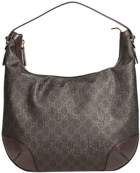 Gucci Gg Supreme Hobo Bag Black Hitam Tas Branded Import gucci hobo gg supreme in black lyst