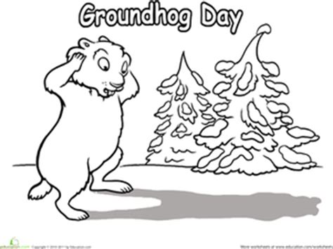 preschool coloring pages for groundhog day groundhog day worksheet education com