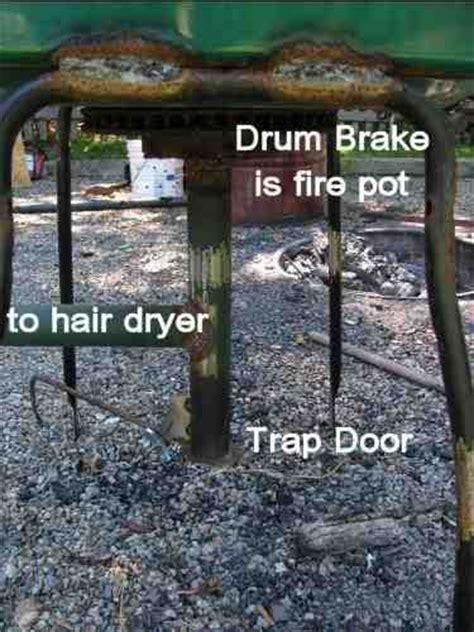 how to build a backyard forge homemade charcoal forge heavy metal pinterest an