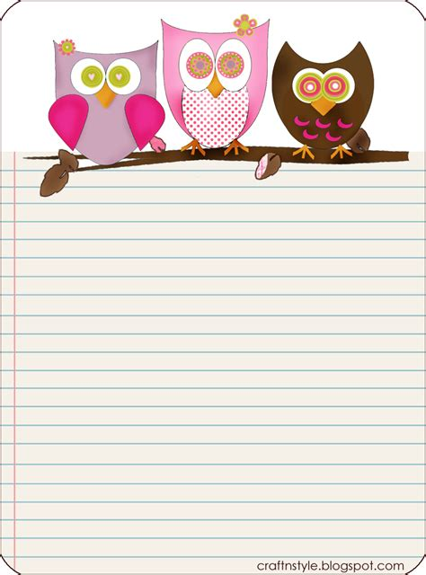 printable paper owl owls paper everyday life free owls google search paper