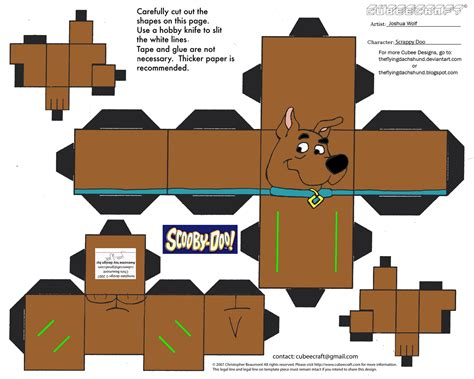 Scooby Doo Papercraft - sd2 scrappy doo cubee by theflyingdachshund on deviantart