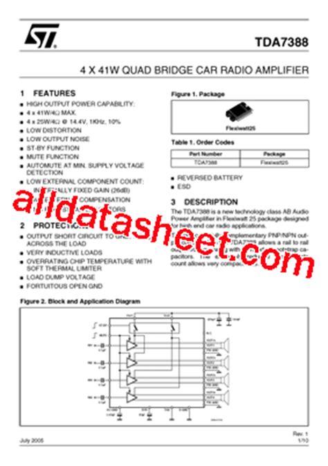Ic Tda7388 By Bakul Elektronik tda7388 datasheet pdf stmicroelectronics