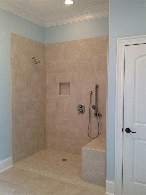 Handicap Bathroom Showers Wheelchair Accessible Shower In Master Bath Controls Accessible Sitting Or Standing Bathroom