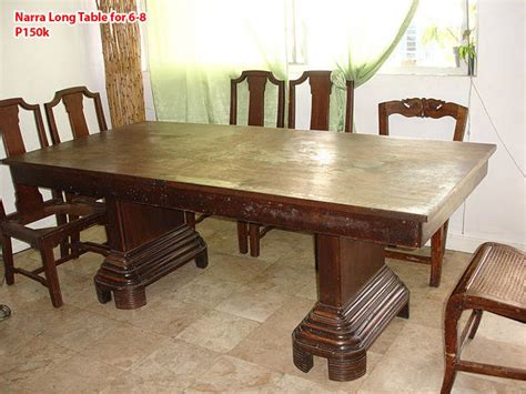 Used Dining Tables On Narra Dining Set Table Narra Dining Table For 6 8 For Sale From Manila Metropolitan Area Pasig Adpost