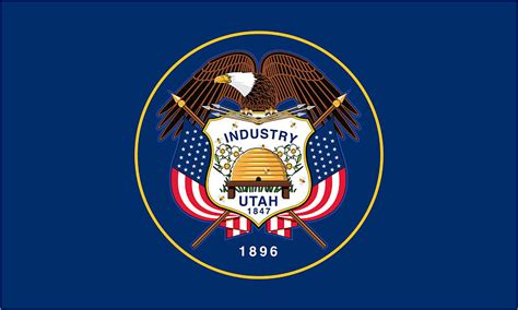 state pictures state flag of utah