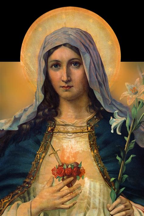 immaculate heart of mary immaculate heart of mary icons and sacred art pinterest
