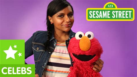 mindy kaling elmo sesame street mindy kaling and elmo are very enthusiastic