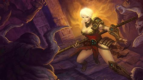 games fantasy art artwork diablo iii monk wallpaper