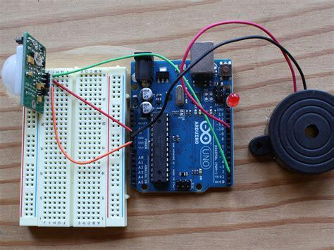 arduino code pir sensor pir sensor arduino alarm make
