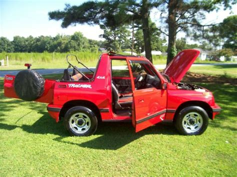 convertible jeep truck 1994 geo tracker 4x4 convertible sidekick jeep suv truck