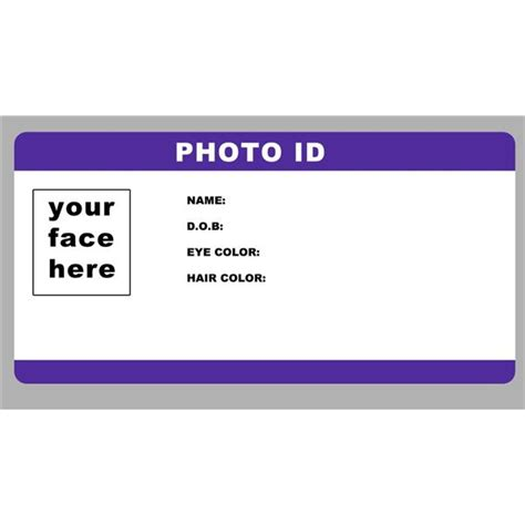 Us Identity Search Blank Id Card Template Identification Card Icon Id Card Vector Illustration Id Card