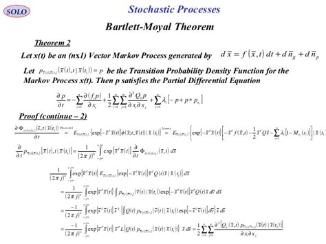 Stochastic Processes 4 stochastic processes